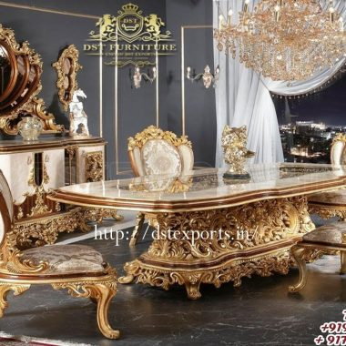 Luxurious Handcrafted King Size Dining Room Furniture