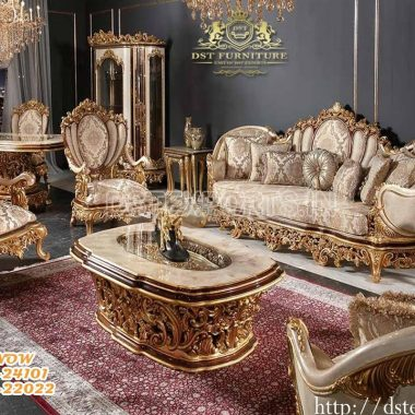 Luxurious Handcrafted King Size Living Room Furniture