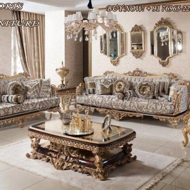 Luxurious Mansion Royal Living Room Sofa Set