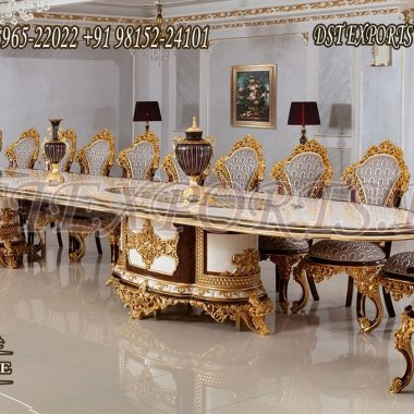 Luxurious Mansion Style Royal Dining Room Furniture
