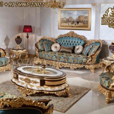 Luxury Carved Royal Villa Living Room Furniture Set