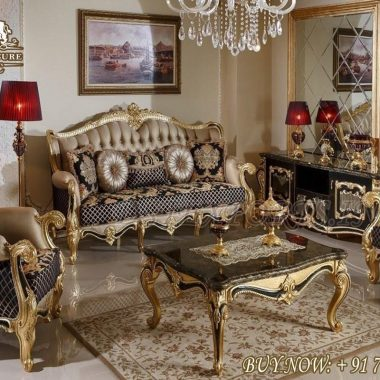 Luxury Living Room Collection Classic Sofa Set