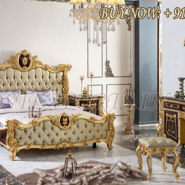 Royal Hand Carved Majesty Bedroom Furniture Set