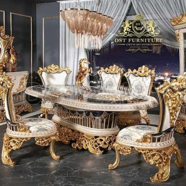 Royal Style Luxury Made Dining Room Furniture