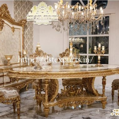 Wooden Hand Carved Luxury Dining Room Furniture