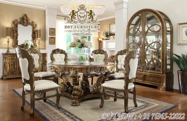 Antique Victorian Round Dining Room Furniture