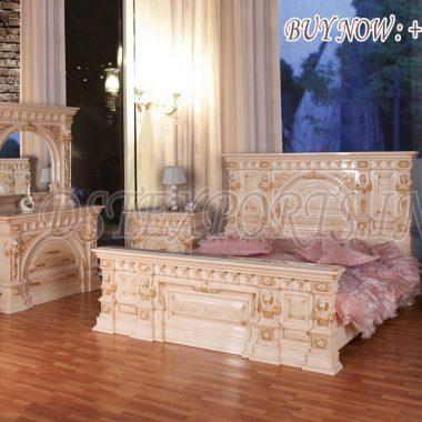 Classic Wooden Carved Beds & Bedroom Furniture Set