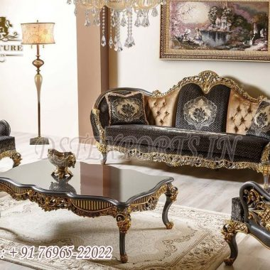 Exclusive Metallic Finish Living Room Sofa