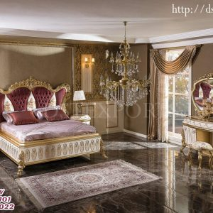 French Queen Size Carved Bedroom Furniture