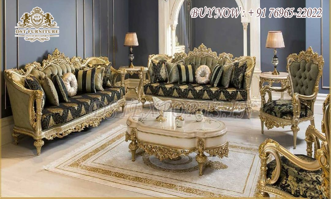 French Style Princess Living Room Furniture Collection