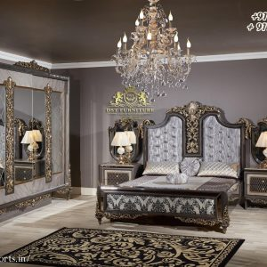 Imperial Hand Carved European Bedroom Furniture