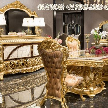 Luxurious Golden Dining Room Furniture Set