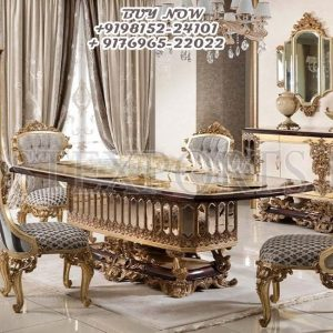 Luxurious Mansion Royal Dining Room Furniture