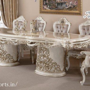 Luxurious Teak Wood Dining Table Set