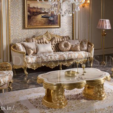 Luxury Villa Sofa Set for Bungalow Decor