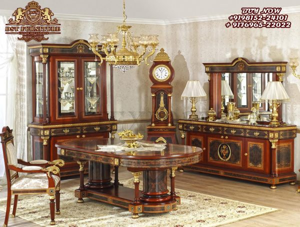 Neo Classic Style Luxury Dining Room Table Set