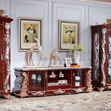 Royal French Style TV Cabinet For Living Room